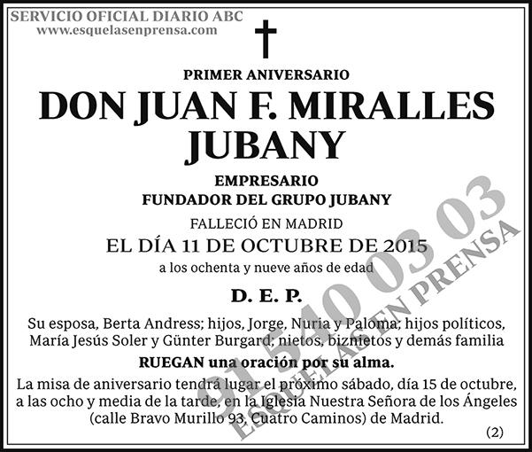 Juan F. Miralles Jubany